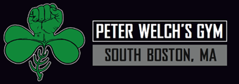 Peter Welch's Gym. Boxing, Fitness, Boston Logo